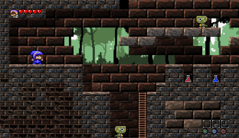 The Tiled version of the demo level